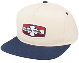 O.G.B.C Rigid Off White/Navy Snapback - Independent