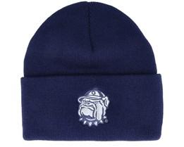 Georgetown Hoyas Logo Cuff Knit Navy Cuff - Mitchell & Ness