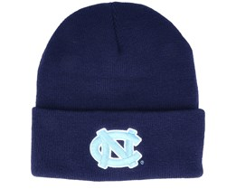 North Carolina Tar Heels Logo Cuff Knit Navy Cuff - Mitchell & Ness