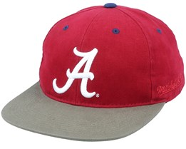 Alabama Crimson Tide Blockhead Deadstock Burgundy/Olive Snapback - Mitchell & Ness