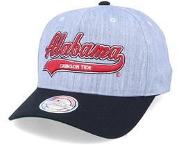 Alabama Crimson Tide Tailsweep Script Heather Grey/Black Adjustable - Mitchell & Ness