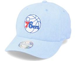 Philadelphia 76ers Washout Snapback Royal 110 Adjustable - Mitchell & Ness