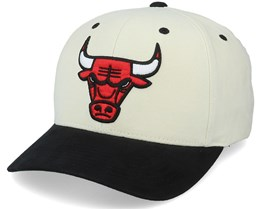 Chicago Bulls Pro Crown White/Black Adjustable - Mitchell & Ness