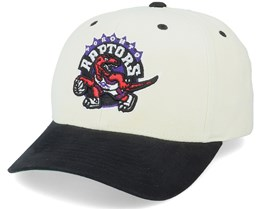 Toronto Raptors Pro Crown White/Black Adjustable - Mitchell & Ness