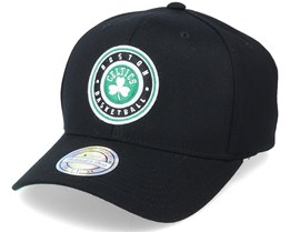 Boston Celtics Varsity Patch Black 110 Adjustable - Mitchell & Ness