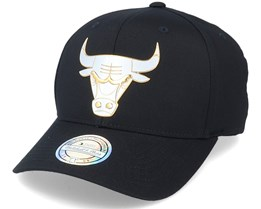 Chicago Bulls Metallic Weald Black Adjustable - Mitchell & Ness