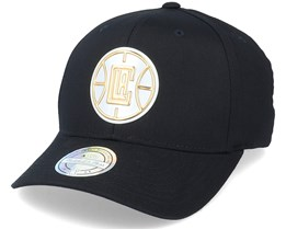 LA Clippers Metallic Weald Black Adjustable - Mitchell & Ness