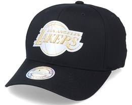 LA Lakers Metallic Weald Black Adjustable - Mitchell & Ness