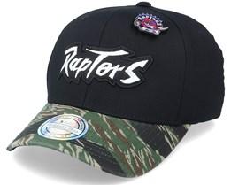 Toronto Raptors Tiger Camo Black/Camo 110 Adjustable - Mitchell & Ness
