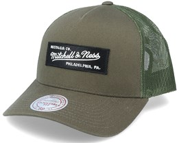 Own Brand Box Logo Olive Trucker - Mitchell & Ness
