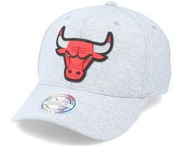 Chicago Bulls Melange Knit Snapback Heather Grey 110 Adjustable - Mitchell & Ness