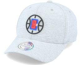 LA Clippers Melange Knit Snapback Heather Grey 110 Adjustable - Mitchell & Ness