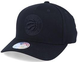 Toronto Raptors Logo Black On Black 110 Adjustable - Mitchell & Ness