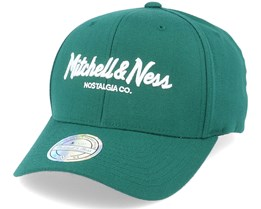 Pinscript Forest Green/White 110 Adjustable - Mitchell & Ness