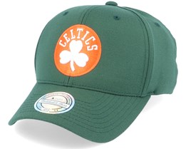 Boston Celtics Orange And White Logo Dark Green 110 Adjustable - Mitchell & Ness