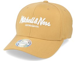 Own Brand Pinscript Snapback Wheat/White 110 Adjustable - Mitchell & Ness