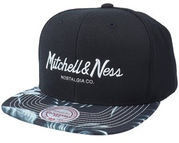 Hatstore Exclusive x Tropical Floral Black Snapback - Mitchell & Ness