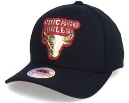 Hatstore Exclusive Chicago Bulls Gold Weald Black Adjustable - Mitchell & Ness