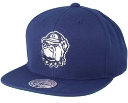Georgetown Hoyas Wool Solid Navy Snapback - Mitchell & Ness