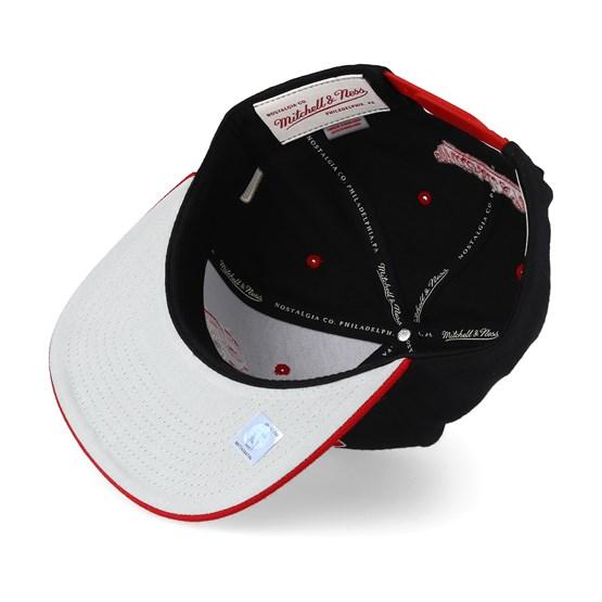 b82aa2b823c Atlanta Hawks Team Arch Black Red Snapback - Mitchell   Ness caps -  Hatstoreaustralia.com