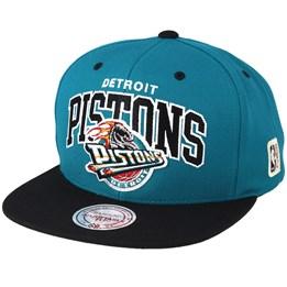 0a628e5ac Detroit Pistons Team Arch Teal/Black Snapback - Mitchell & Ness