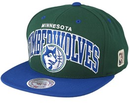 Minnesota Timberwolves Team Arch Green/Blue Snapback - Mitchell & Ness