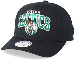 Boston Celtics Team Arch Pinch Panel Black 110 Adjustable - Mitchell & Ness
