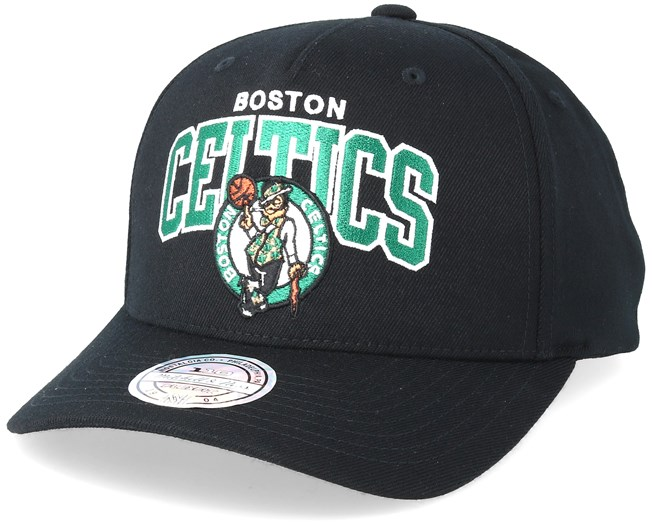 check out 3f69d 8b040 Boston Celtics Team Arch Pinch Panel Black 110 Adjustable - Mitchell   Ness  caps - Hatstoreworld.com