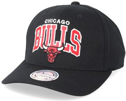 Chicago Bulls Team Arch Pinch Panel Black 110 Adjustable - Mitchell & Ness