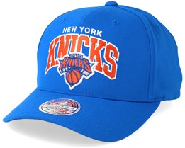 New York Knicks Team Arch Pinch Panel Blue 110 Adjustable - Mitchell & Ness