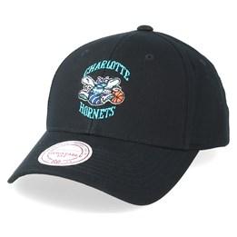 cd716b0d8261e Mitchell & Ness Charlotte Hornets Team Logo Low Pro Black Adjustable -  Mitchell & Ness $29.99