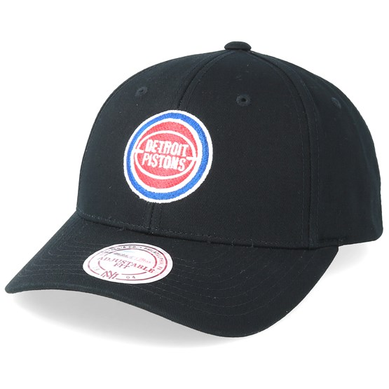 9b1d8f04d Detroit Pistons Team Logo Low Pro Black Adjustable - Mitchell   Ness caps -  Hatstoreworld.com