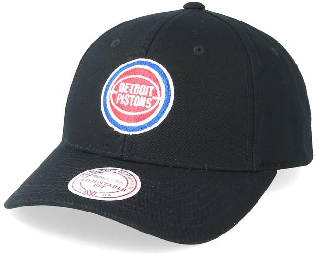 Detroit Pistons Team Logo Low Pro Black Adjustable - Mitchell   Ness caps -  Hatstoreworld.com de1747f0d0bb