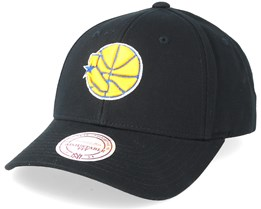 Golden State Warriors Team Logo Low Pro Black Adjustable - Mitchell & Ness