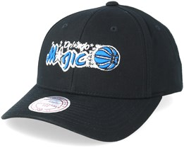 Orlando Magic Team Logo Low Pro Black Adjustable - Mitchell & Ness