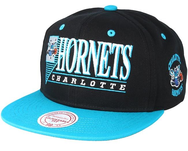 Charlotte Hornets Horizon Black Teal Snapback - Mitchell   Ness caps -  Hatstoreaustralia.com 81ef2ab322f