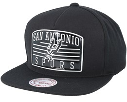 San Antonio Spurs Weald Patch Black Snapback - Mitchell & Ness