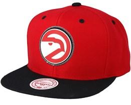 Atlanta Hawks Zig Zag Red Snapback - Mitchell & Ness