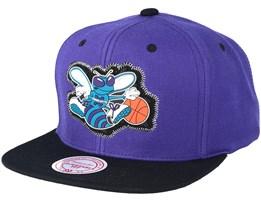 Charlotte Hornets Zig Zag Purple Snapback - Mitchell & Ness