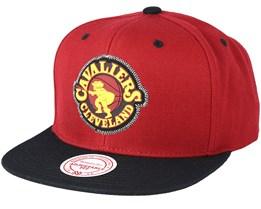 Cleveland Cavaliers Zig Zag Burgundy Snapback - Mitchell & Ness
