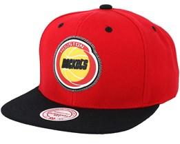 Houston Rockets Zig Zag Red Snapback - Mitchell & Ness