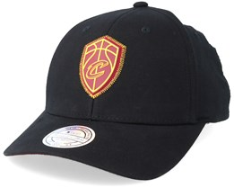 Cleveland Cavaliers Biowashed Zig Zag Black Adjustable - Mitchell & Ness