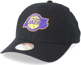 LA Lakers Biowashed Zig Zag Black Adjustable - Mitchell & Ness