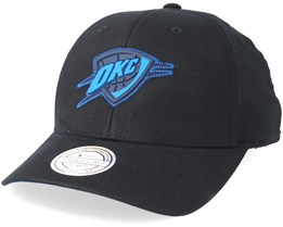Oklahoma City Thunder Biowashed Zig Zag Black Adjustable - Mitchell & Ness