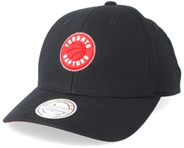 Toronto Raptors Biowashed Zig Zag Black Adjustable - Mitchell & Ness