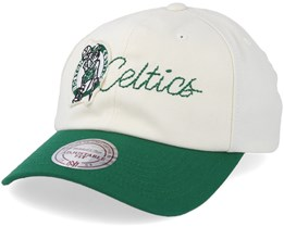 Boston Celtics Vintage Off White/Green Adjustable - Mitchell & Ness