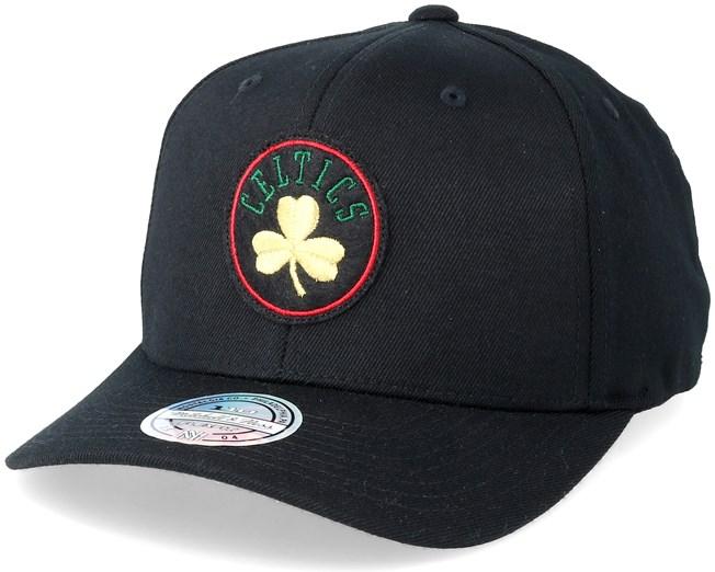 Boston Celtics Luxe Black 110 Adjustable - Mitchell   Ness caps -  Hatstoreworld.com 2fc5393652da