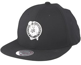 Boston Celtics Check Black Strapback - Mitchell & Ness