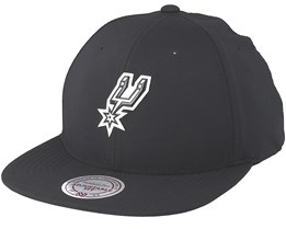 San Antonio Spurs Check Black Strapback - Mitchell & Ness