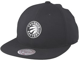 Toronto Raptors Check Black Strapback - Mitchell & Ness